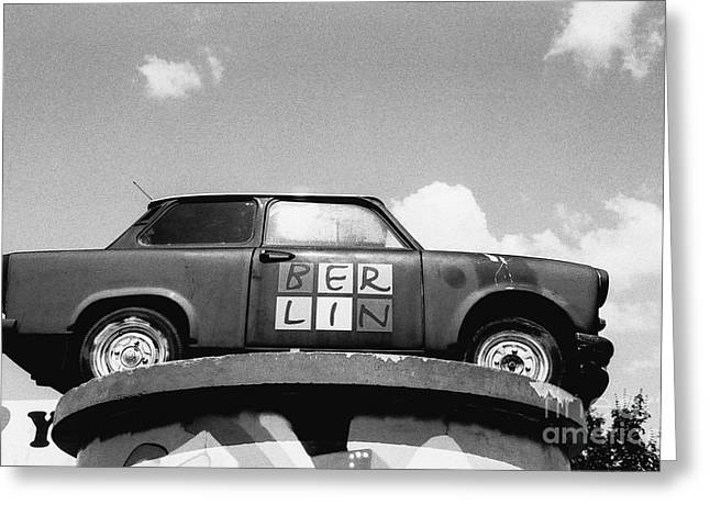 Berlin Trabant Greeting Card by Dean Harte
