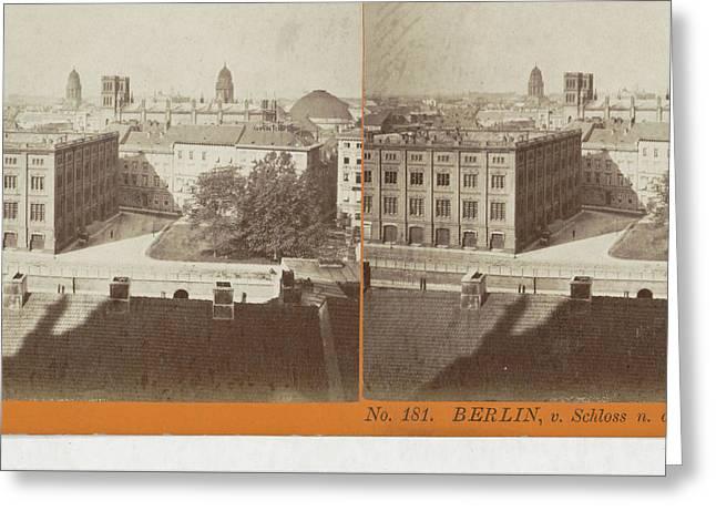Berlin, V. Schloss N. D Construction Academie Greeting Card by Artokoloro