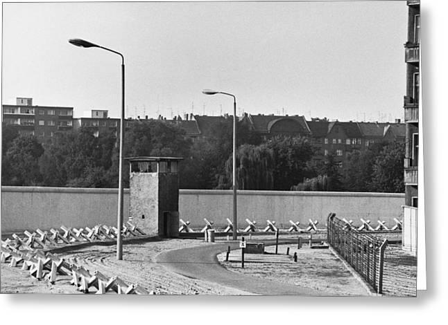 Berlin Wall, C. 1980 Greeting Card by Jan Lukas