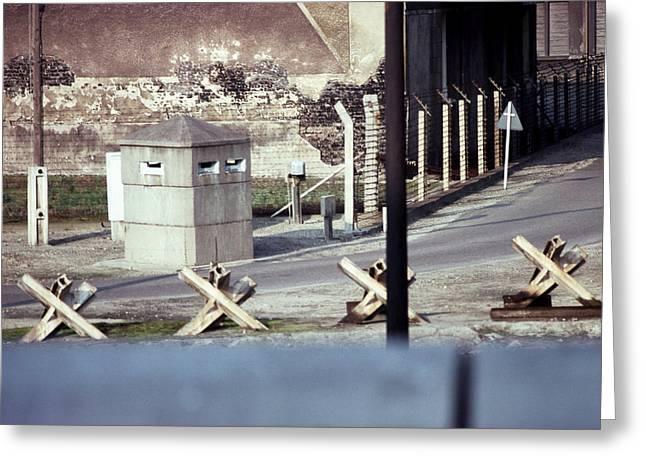 Berlin Wall, East Berlin, Germany, C Greeting Card by Jan Lukas