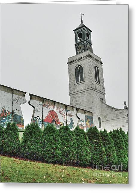 Berlin Wall Segment Greeting Card by David Bearden