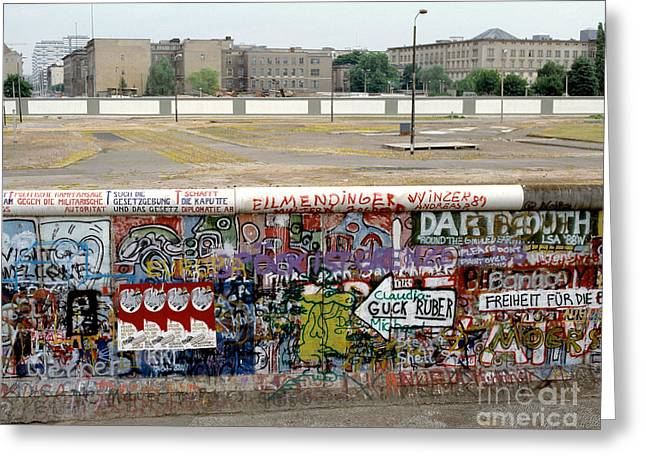 Berlin Wall Greeting Card by Werner Otto