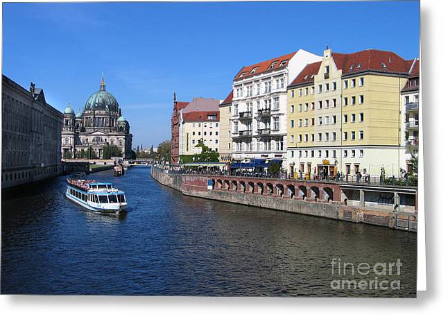 Berliner Dom And Nikolaiviertel Greeting Card by Art Photography