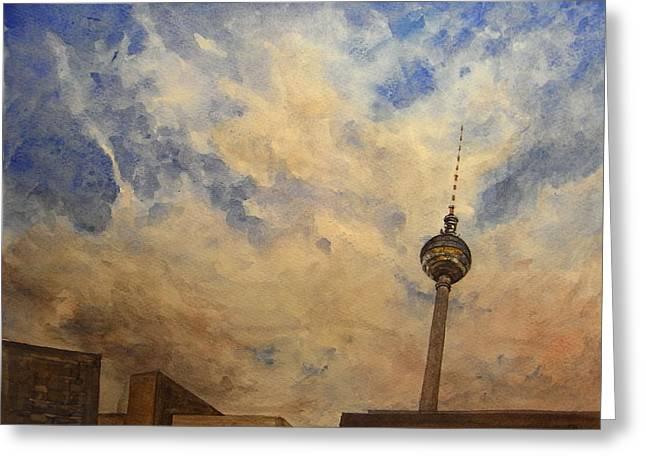 Berliner Sky Greeting Card