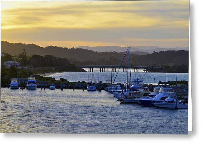 Greeting Card featuring the photograph Bermagui River Sunset by Marty  Cobcroft
