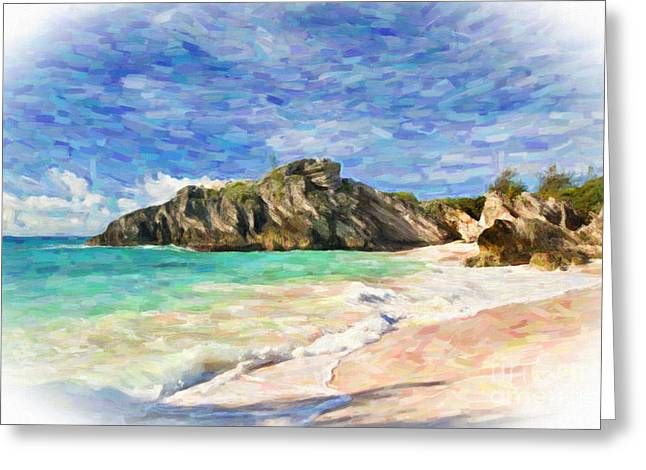 Bermuda Beach Greeting Card by Verena Matthew