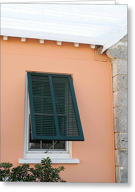 Bermuda Shutters Greeting Card