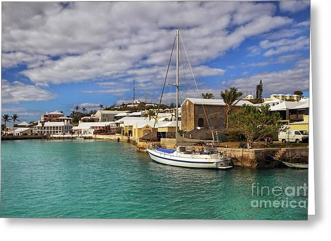 Bermuda St George Harbour Greeting Card by Charline Xia