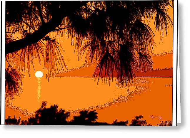 Bermuda Sunset Greeting Card by Mariarosa Rockefeller