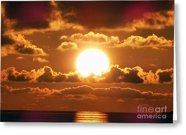 Bermuda Sunset Greeting Card by Steven Spak