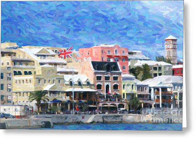 Greeting Card featuring the photograph Bermuda Waterfront by Verena Matthew
