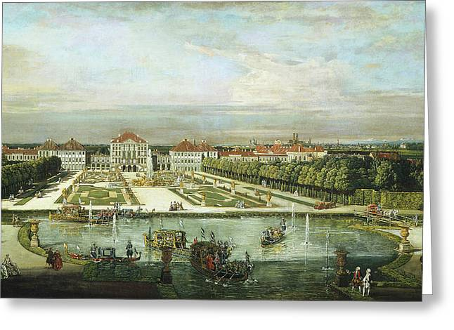 Bernardo Bellotto And Workshop, Nymphenburg Palace Greeting Card by Litz Collection