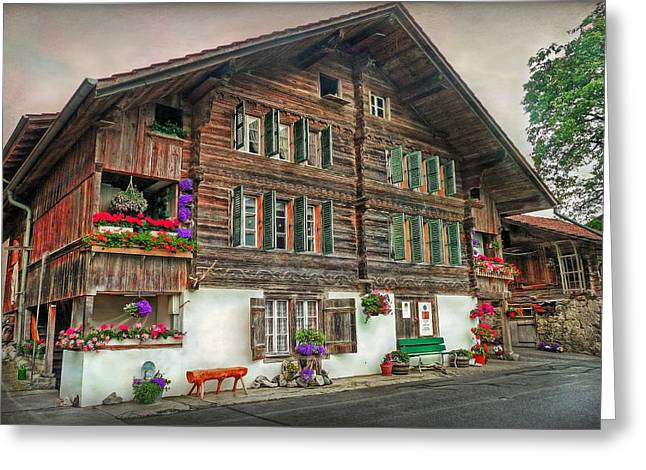 Bernese Wooden House Greeting Card by Hanny Heim