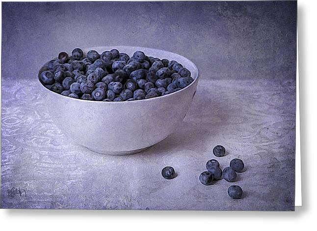 Berries In White Bowl Greeting Card