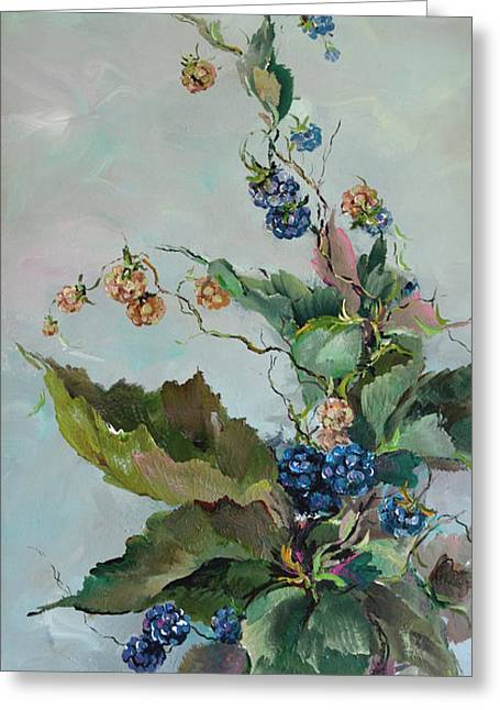 Berries Greeting Card by Steven Nevada