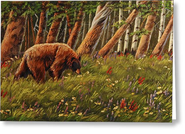Berry Pick'n Bear Greeting Card