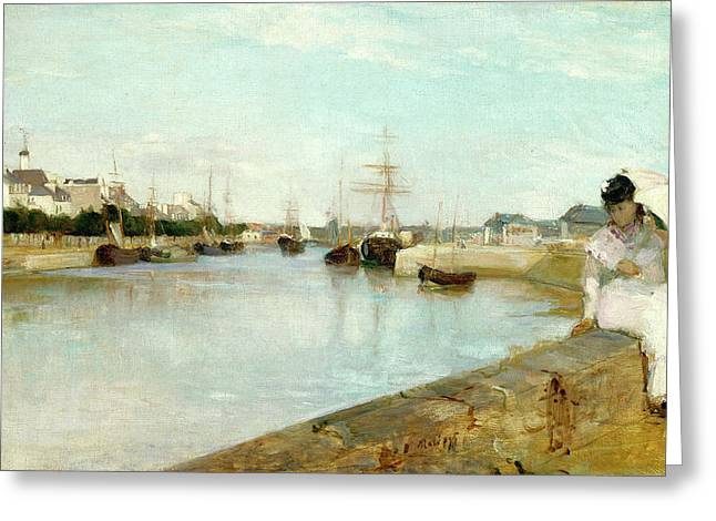 Berthe Morisot, The Harbor At Lorient, French Greeting Card