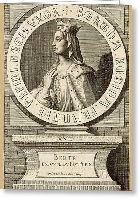 Berthe,  Queen Of Pepin Le Bref, King Greeting Card by Mary Evans Picture Library