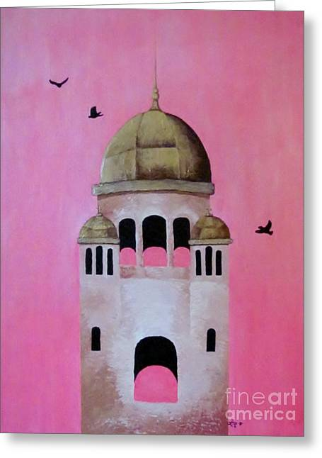 Berwick Steeple Greeting Card by Elaan Yefchak