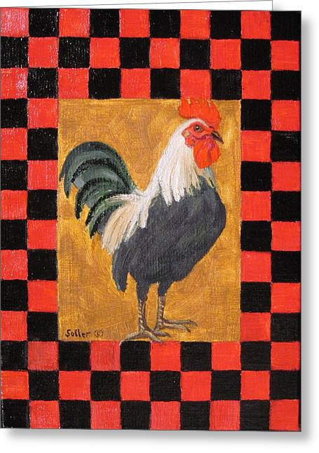 Beryl's Rooster Greeting Card