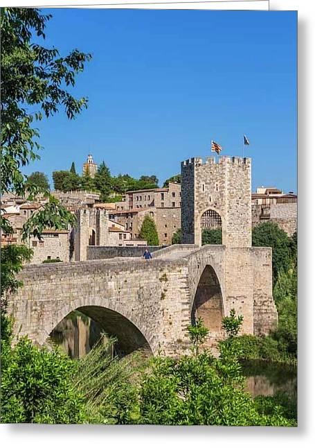 Besalu, Catalonia, Spain Greeting Card by Ken Welsh