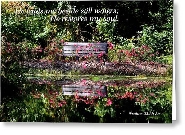 Beside Still Waters Greeting Card by Paula Tohline Calhoun
