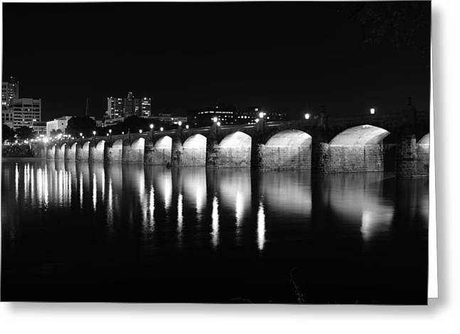 Beside The Bridge At Night...   # Greeting Card by Rob Luzier