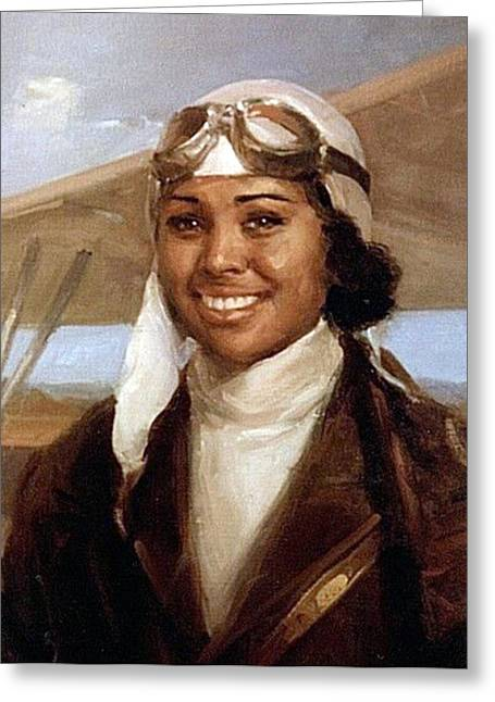 Bessie Coleman, American Aviator Greeting Card