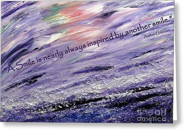 Besso Tsunami Smile Quote Greeting Card by Marlene Rose Besso