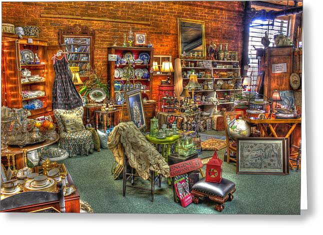 Best Antique Store On The Planet In Greensboro Greeting Card by Reid Callaway