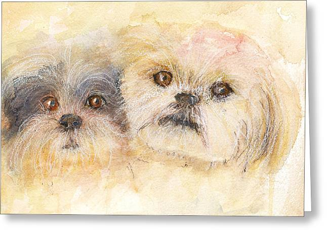 Best Buddies Greeting Card by Peggy Bosse