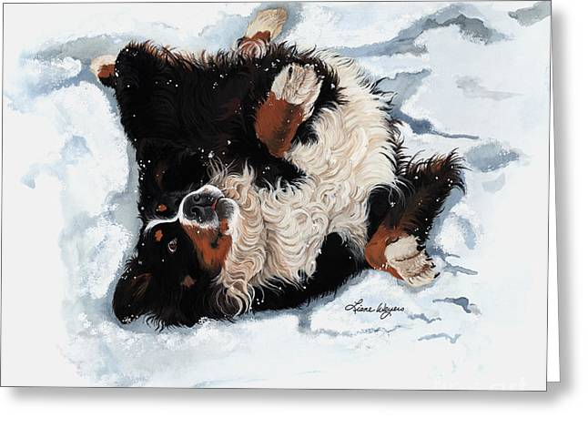 Best Snow Angel Greeting Card by Liane Weyers