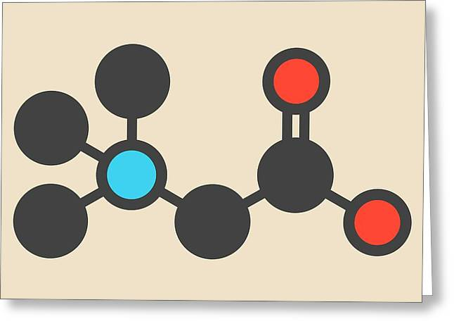 Beta-alanine Molecule Greeting Card by Molekuul