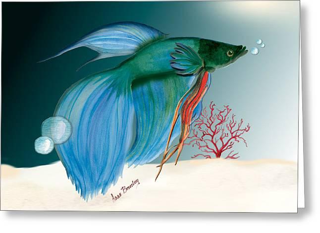 Beta Fish Greeting Card