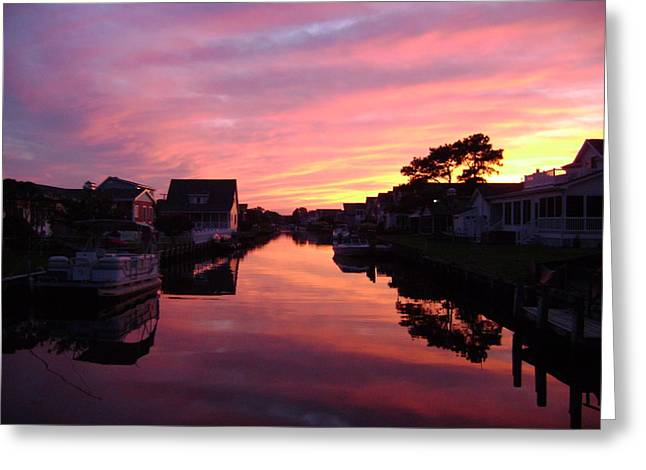 Bethany Beach Sunset Greeting Card