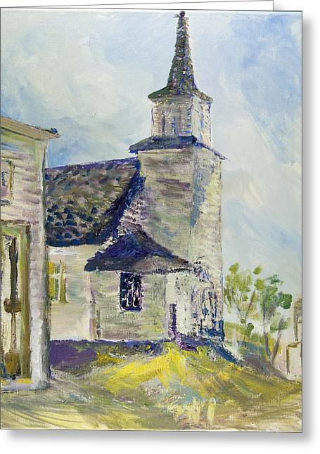 Bethel Church At Buckstop Junction Greeting Card by Helen Campbell