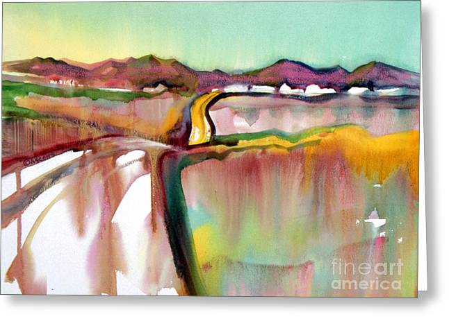Greeting Card featuring the painting Bethel Road by Teresa Ascone
