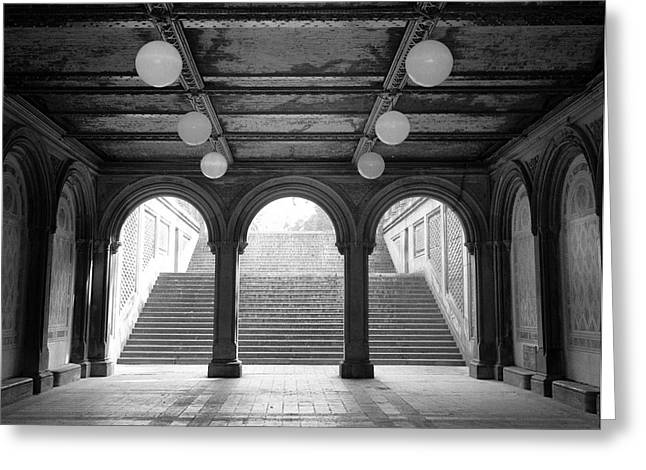 Greeting Card featuring the photograph Bethesda Passage Central Park by Dave Beckerman
