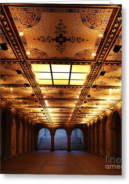Bethesda Terrace Lower Passage Greeting Card