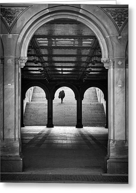 Bethesda Underpass At Central Park In New York City Greeting Card