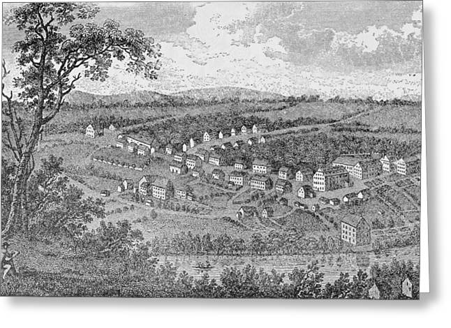 Bethlehem, A Moravian Settlement In Pennsylvania, From The Pageant Of America Greeting Card