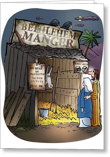 Bethlehem Manger Greeting Card