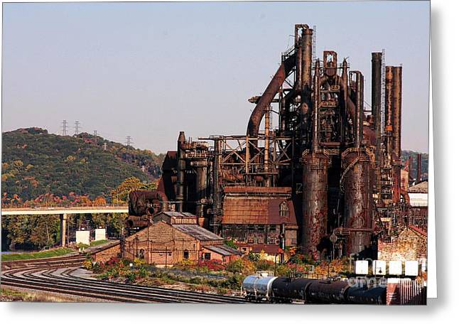 Bethlehem Steel # 8 Greeting Card by Marcia Lee Jones