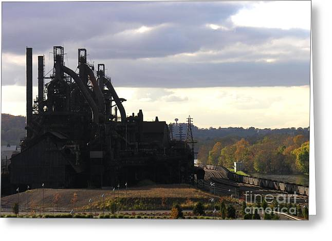 Bethlehem Steel On The Lehigh River Greeting Card
