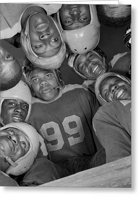Bethune-cookman Football Players 1943 Greeting Card by Mountain Dreams