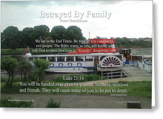 Betrayed By Family Greeting Card by Bible Verse Pictures