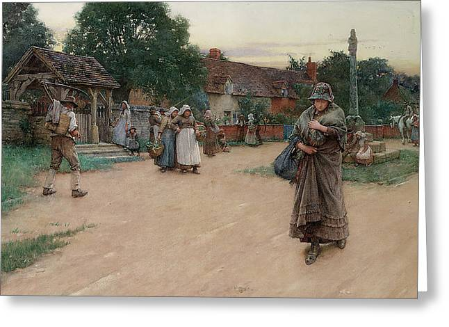 Betrayed Greeting Card by Walter Langley