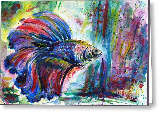 Betta Greeting Card by Zaira Dzhaubaeva