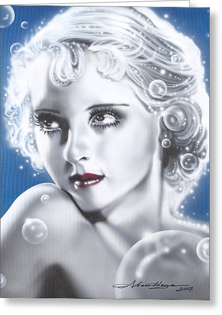 Bette Davis Greeting Card by Alicia Hayes