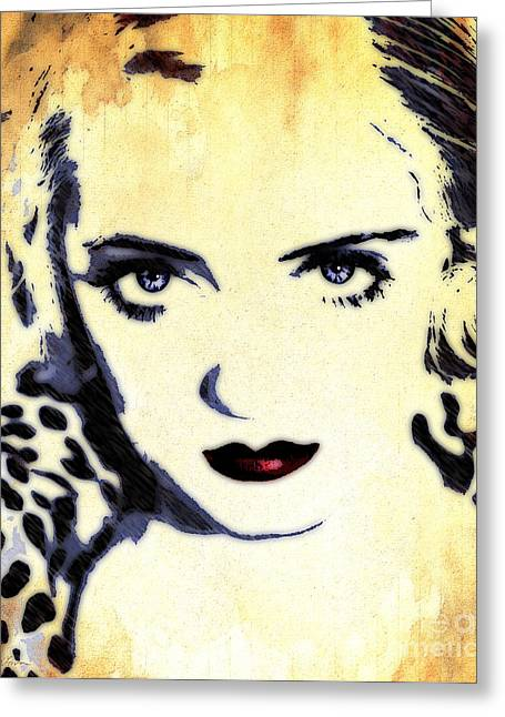 Bette Davis Eyes Greeting Card by Deena Athans
